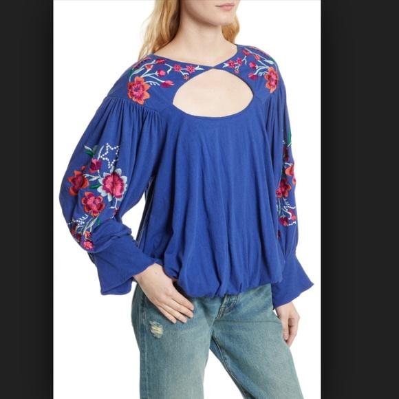 dba8da76a5fa NWT FP Lita Embroidered Pullover Top NWT